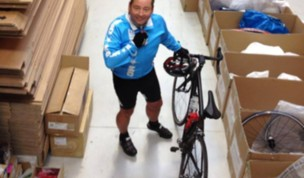 CEO David Hanney Cycles to Work