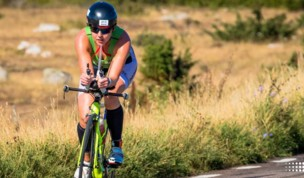 Debbie Moore at the Kona World Championship Ironman