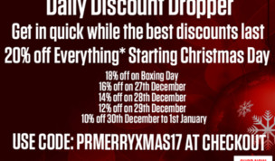 Christmas Discount Dropper Sale