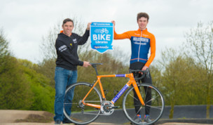 Team Holdsworth support Yorkshire Bank Bike Libraries