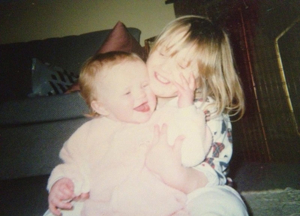 Hollie and Rosie as babies