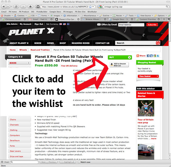 how to add amazon wish list button