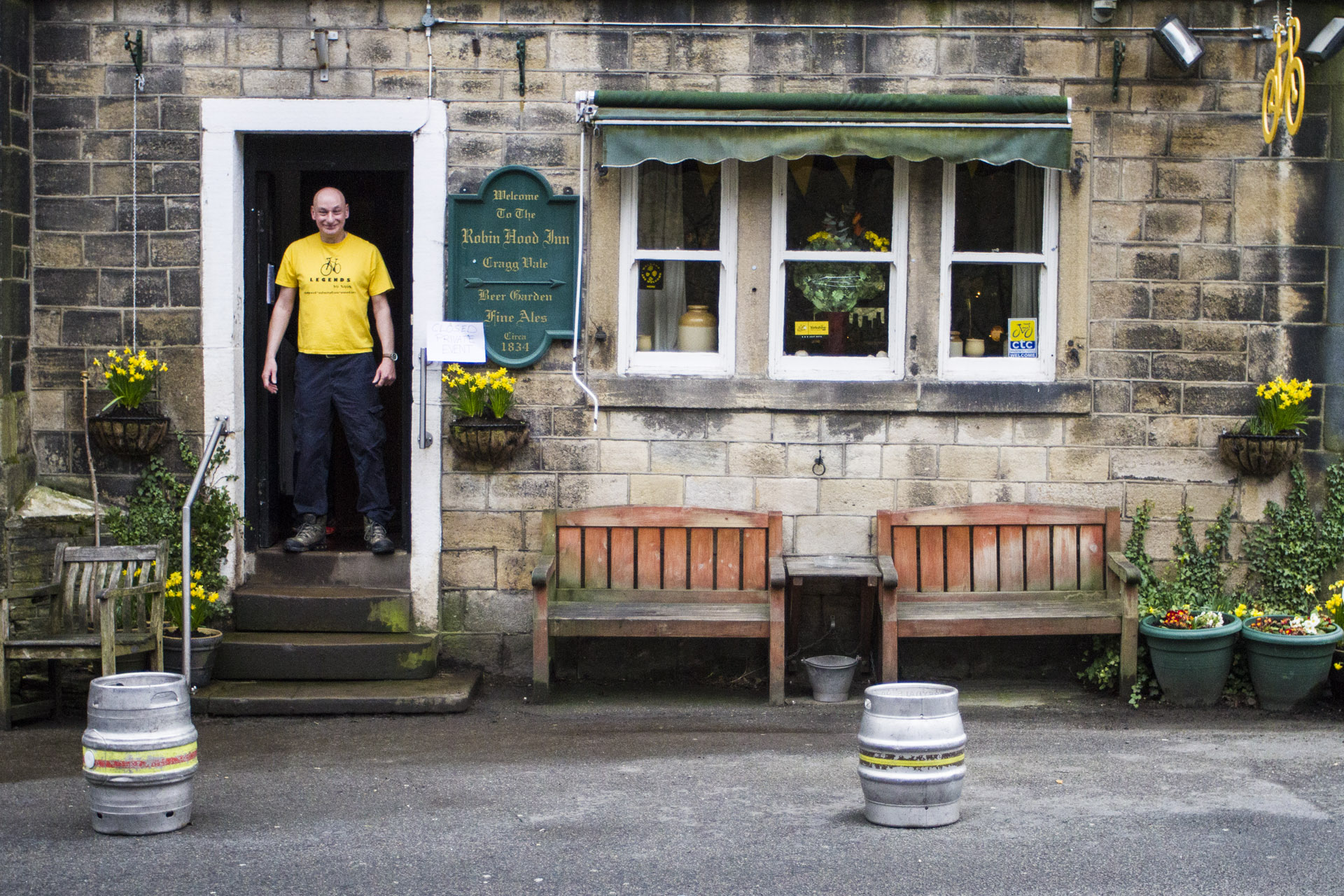 The Robin Hood Inn is a great cycling pub on Cragg Vale