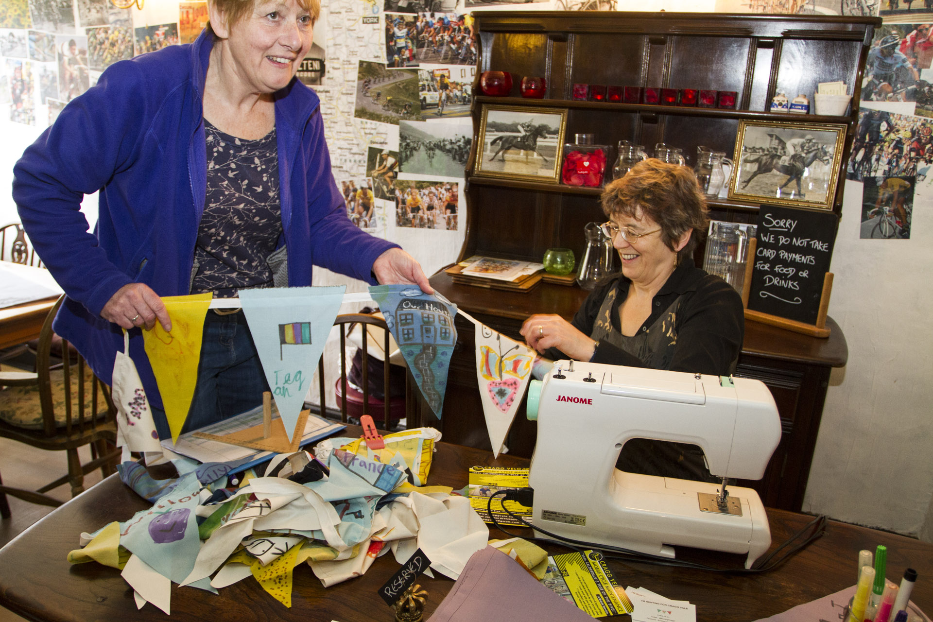 Hebden Bridge is having a crack at the world bunting record - 10km
