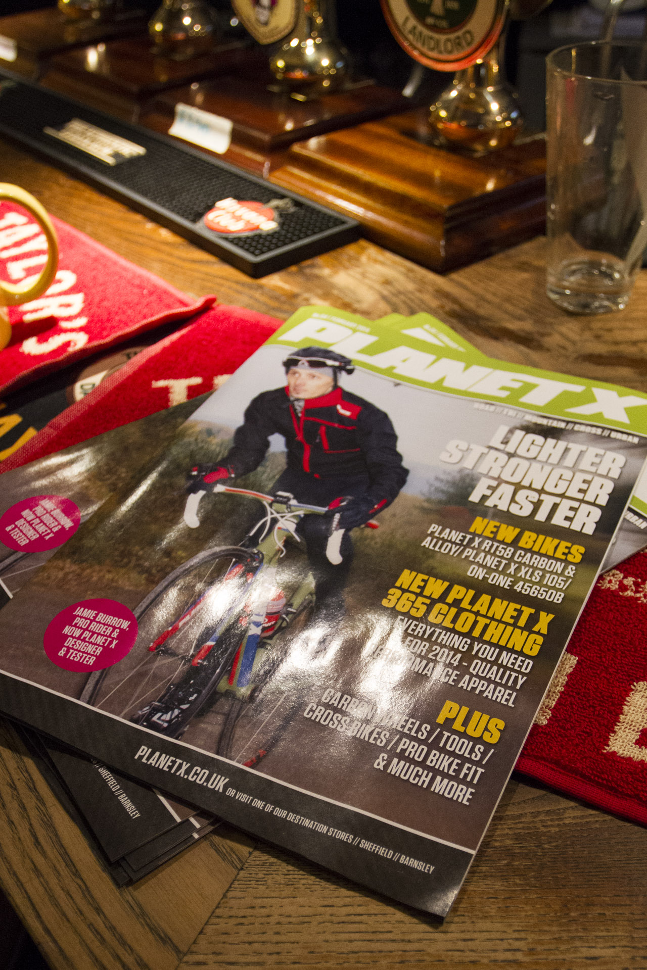 Everyone present was cycling mad so the Planet X magazine went down a treat