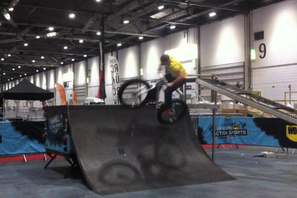 Freestyling at the London Bike SHow 2014
