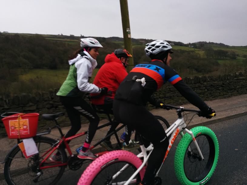 Sport Relief Holme Moss event 2014 fatty vs tandem