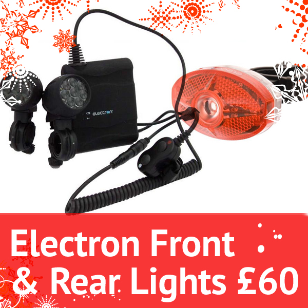 Planet X Christmas Offers Electron Front and Rear Lights for 60 Quid