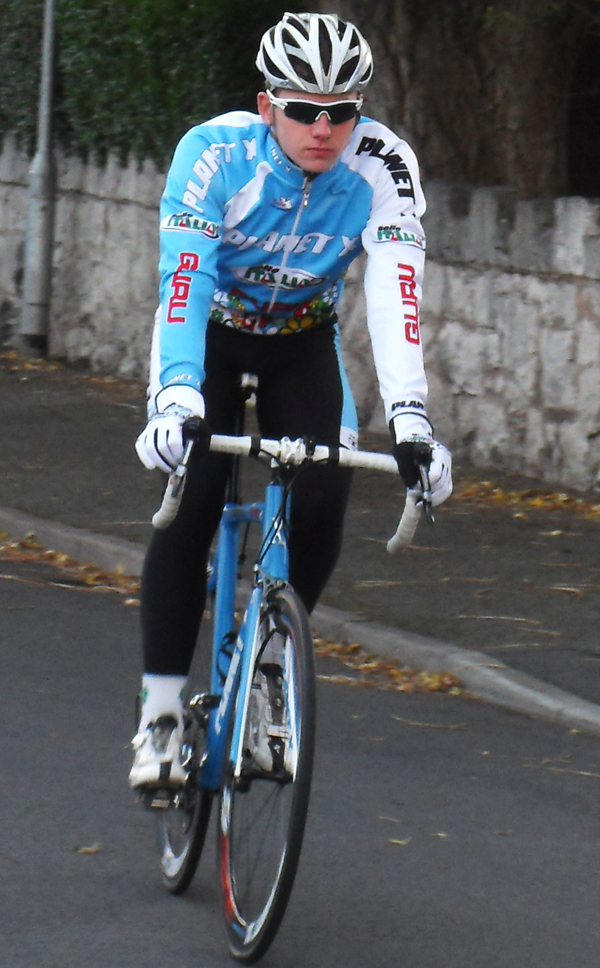 Ryan Mullen spotted riding the forthcoming Guru team kit...