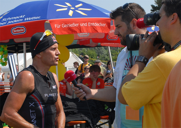Thomas Hellriegel at the Rothsee Triathlon 2