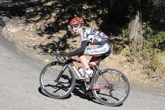 Granfondo rider from Team VVF-Planet X 2013 on the road