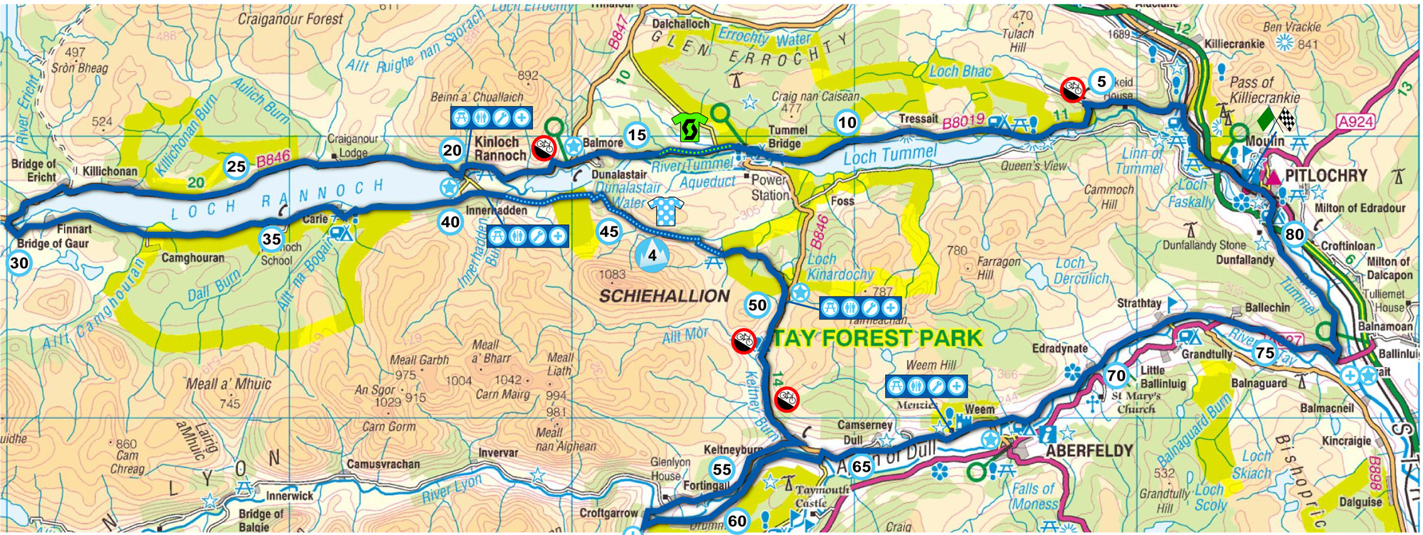 A Map of the Etape Caledonia