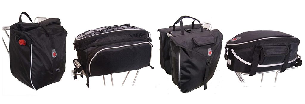 Panniers and Racktop Bags from Banjo Brothers
