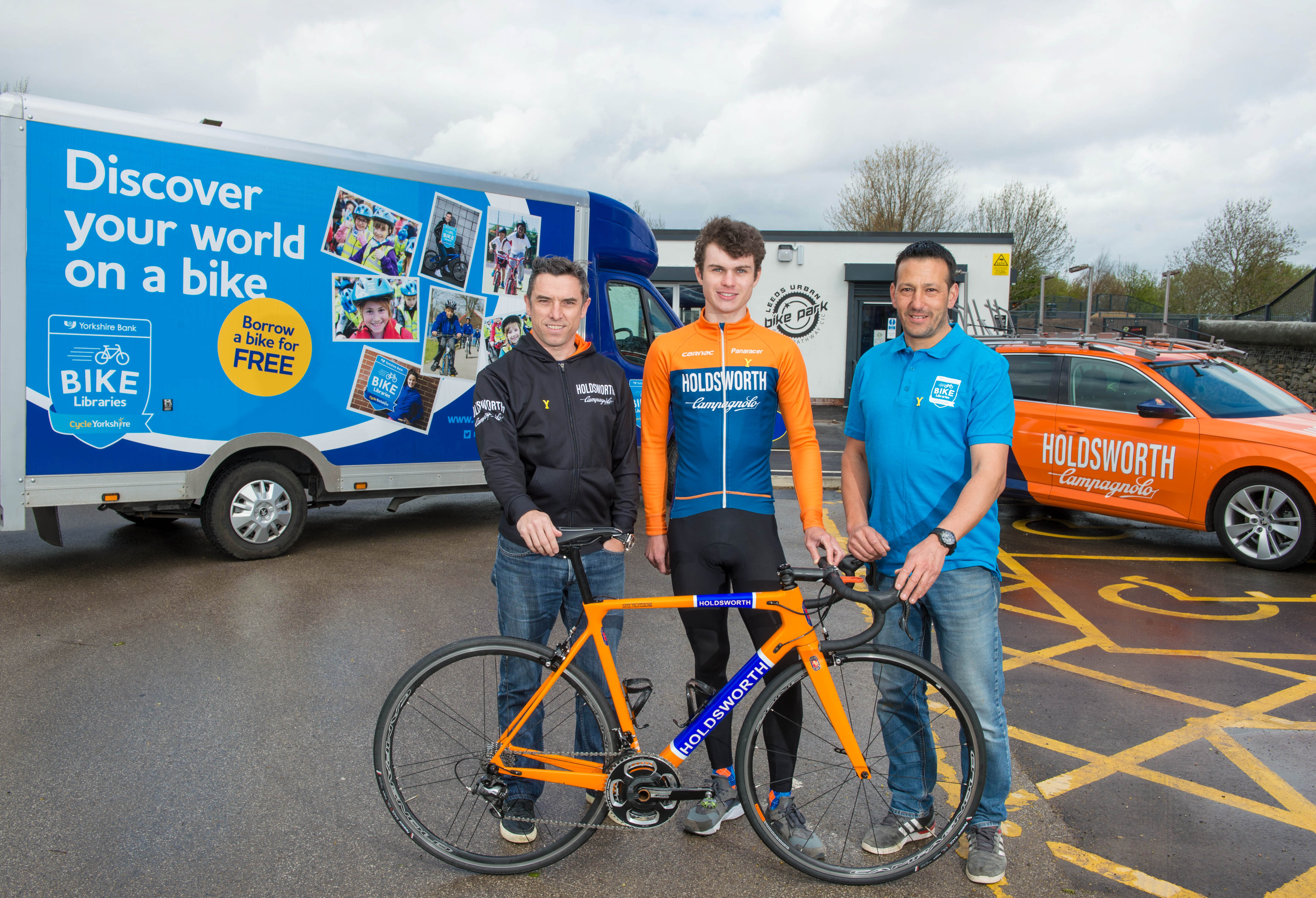 """I hope the excitement of the Tour de Yorkshire will encourage more people  to come down to the Yorkshire Bank Bike Libraries and get involved in  cycling."""" b74d69f83"""