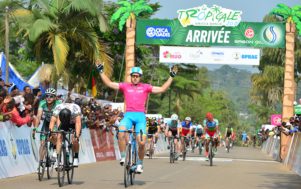 Brenton Jones secures the Pink points jersey at the 2018 Tropicale Amissa Bongo