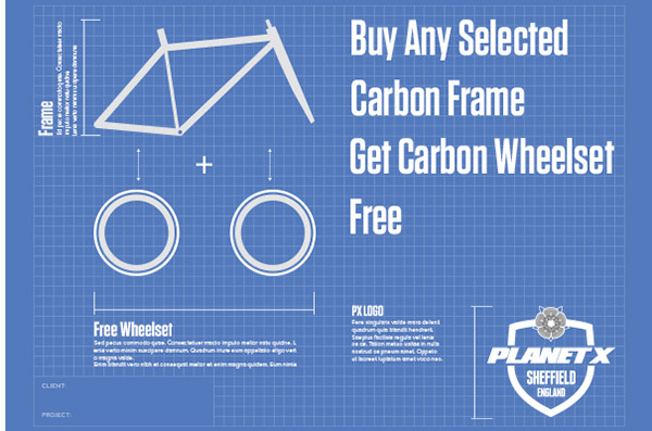 free carbon wheelsets with selected framesets