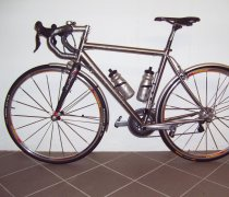 Long Silver Knight bike photo
