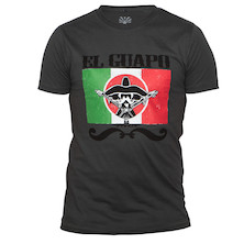ElGuapo Mex Flag Urban Wash T-Shirt 175g