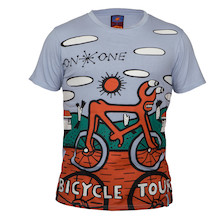 On-One Mombassa Bicycle Tour Full Print Short Sleeved T Shirt