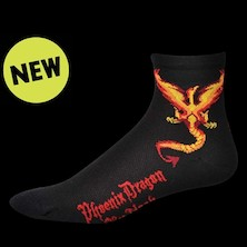 Save Our Soles Phoenix Dragon By Noah Coolmax Socks