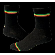 "Save Our Soles Rasta Irie 5"" Coolmax Socks"