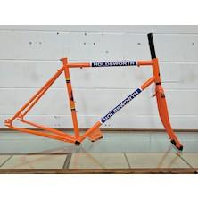 Holdsworth La Quelda Steel Single Speed Frameset / Medium / Orange / Chip On Frame