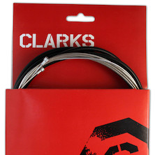 Clarks Stainless Steel Universal Front & Rear Gear Cable Kit SP4 Type Housing
