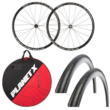Deluxe Fulcrum Racing Sport Clincher Wheelset, Wheelbag And Tyres Bundle