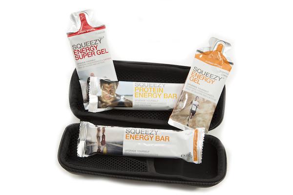 Carnac EVA Bottle Cage Tool Bag Squeezy Nutrition Bundle