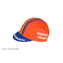 Holdsworth Cotton Cycling Cap / One Size / Navy Orange