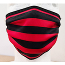 Planet X Face Mask / Red and Black Stripe