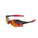 Dolce Vita Air Force One Cycling Glasses / Black and Red / Red Revo / Clear and Smoke