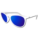 Power Race Fashion Two Cycling Glasses / White / Blue Revo