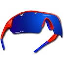 Power Race Mirage Cycling Glasses / Red and Blue / Blue Polarized / 3 Lenses