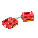 On-One Platform Pedals/ Red