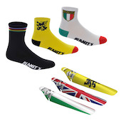 Socks 3 Pack And Rear Saver Mudguard Bundle