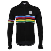 Santini UCI Rainbow Long Sleeve Jersey In Techno Wool