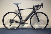 Planet X E-Road Bike / 52ST / 54TT / 14HT / Matt Black / Sram Force 1 / Used