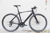 Planet X London Road Flat Bar Bike Sram Rival 11 Speed Road Bike Medium  Stealth Black