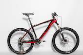 On-One 456 Carbon Sram X9 Mountain Bike 18'' Black Frame Red Decals