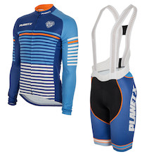 Long Sleeve Midnight Stripe Jersey And Bibshorts Bundle