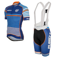 Short Sleeve Midnight Stripe Jersey And Bibshorts Bundle