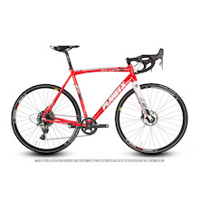 Planet X Bargain Bike 64 - XLA Apex 1 - Fire Red - XL