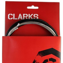 Clarks S/S Universal Front & Rear Gear Cable Kit SP4 Type Housing Black