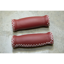 San Marco Flat Handlebar Leather Grip Red 2108 125MM L.