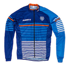 Planet X Midnight Stripe Childrens Long Sleeved Jersey
