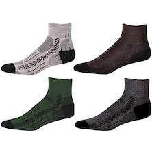 "Save Our Soles Enduro 1/2 Cushioned  2"" Sole Tech Wool Socks"