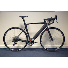 Planet X E-Road Bike / 52ST / 54TT / 14HT / Matt Black / Sram Force 1 Hydro