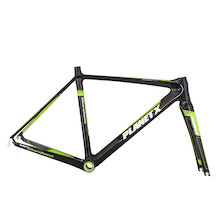 Planet X Maratona Carbon Road Frameset / 48cm / Black And Green (Cosmetic Damage)