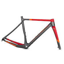 On One Space Chicken 650+/ 700c Carbon Gravel Frameset / Medium (54) / Anthracite And Red (Cosmetic Damage)